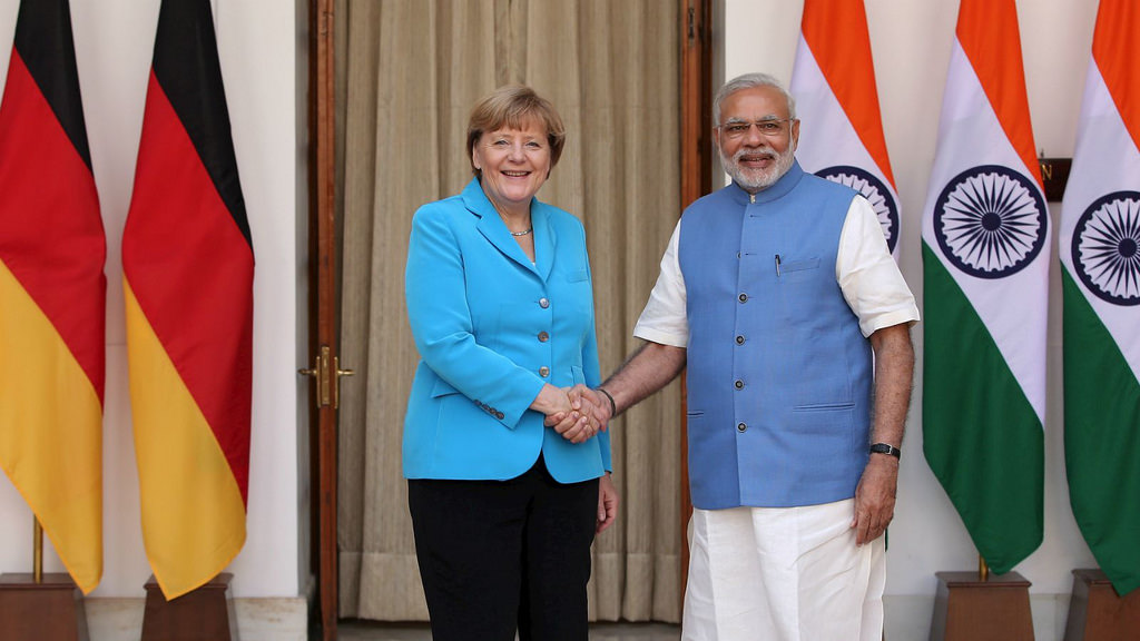 "Modi and Merkel meet in Berlin<br><i>""Germany and India can rely on each other as equal partners.""</i>"